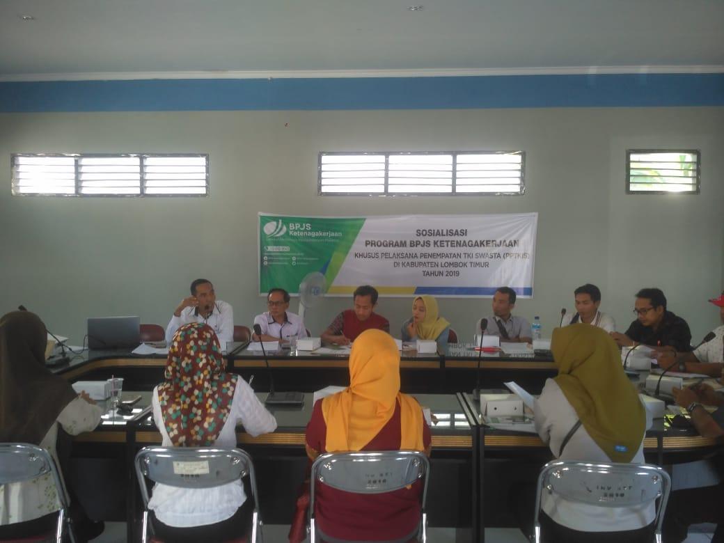 Disnakertrans Lotim Bersinergi Dengan Bpjs Ketenagakerjaan Sosialisasi Pada Perusahaan Penempatan Tenaga Kerja Indonesia P3mi